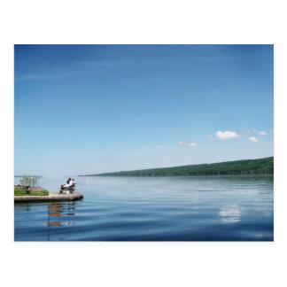 Carte Postale Pêche sur le lac Cayuga