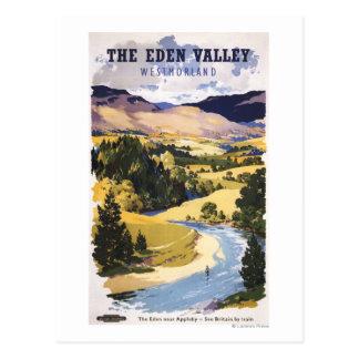 Carte Postale Pêcheur dans la vallée d'Éden
