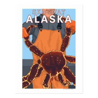Carte Postale Pêcheur limule - Skagway, Alaska