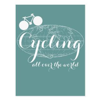 Carte Postale pédaler faisant du vélo de recyclage de vélo de
