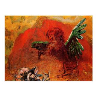 """Carte Postale """"Pegasus et l'hydre"""" par Odilon Redon"""