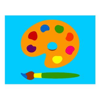 Carte Postale Peignez l'art de palette