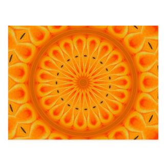 Carte Postale Peignez-le orange - art frais de mandala