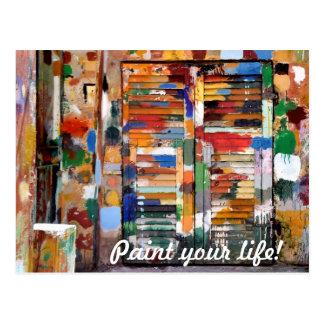 Carte Postale peignez votre vie !