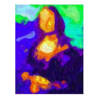 Carte Postale Peinture abstraite de Mona Lisa