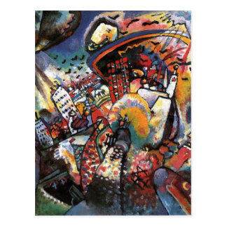 Carte Postale Peinture abstraite de paysage urbain de Kandinsky
