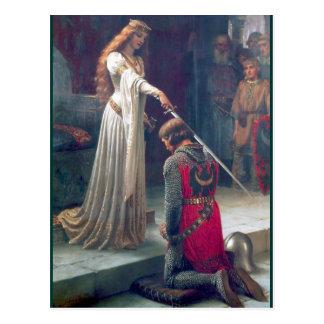 Carte Postale Peinture antique adoubante de chevalier de reine