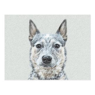 Carte Postale Peinture australienne de chien de bétail - art