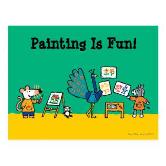Carte Postale Peinture avec Maisy !
