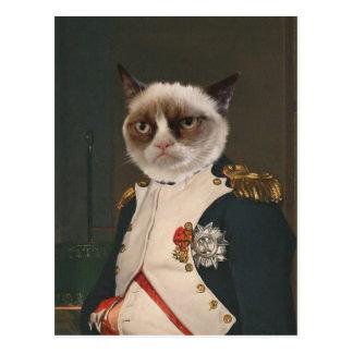 Carte Postale Peinture classique de chat grincheux