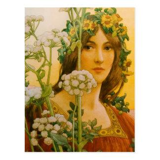 "Carte Postale Peinture classique de vache de Sonrel ""Madame"""