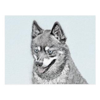 Carte Postale Peinture d'Alaska de Klee Kai - art original