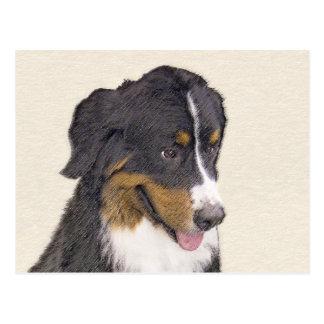 Carte Postale Peinture de chien de montagne de Bernese - art