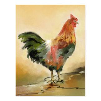 Carte Postale Peinture de coq