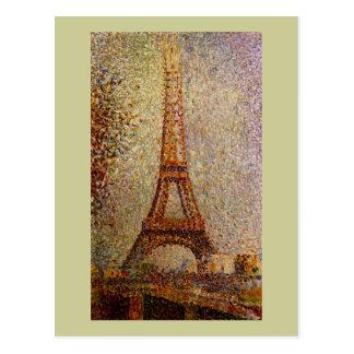 Carte Postale Peinture de Georges Seurat : Tour Eiffel (1889)