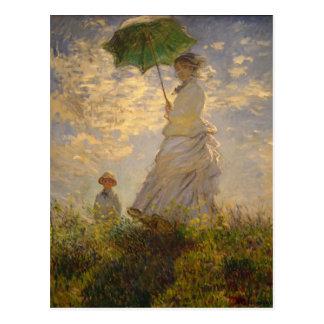 Carte Postale Peinture de Monet de parapluie