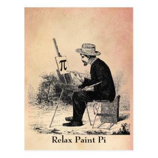 Carte Postale Peinture de nombre de pi