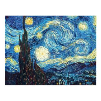 Carte Postale Peinture de nuit étoilée de Van Gogh
