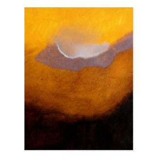 Carte Postale Peinture de paysage abstraite avec le nuage