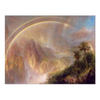 Carte Postale Peinture de paysage d'église de Friedrich