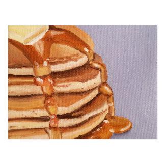 Carte Postale Peinture de petit déjeuner de Shortstack de crêpes