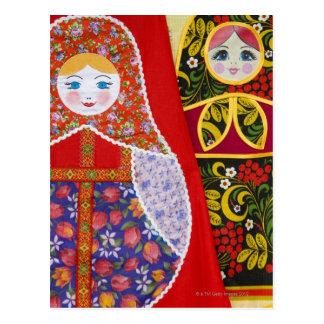 Carte Postale Peinture de poupée de Matryoshka de Russe