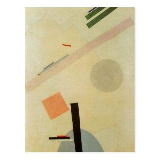 Carte Postale Peinture de Suprematist par Kazimir Malevich