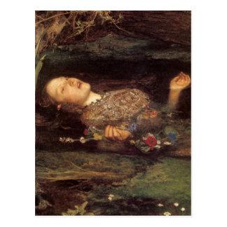 Carte Postale Peinture d'Ophélie de beaux-arts
