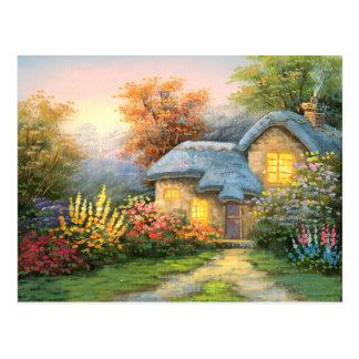 Carte Postale Peinture d'un cottage privé