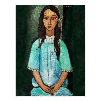 Carte Postale Peinture vintage de beaux-arts de Modigliani Alice
