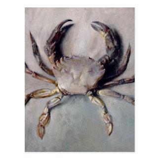 Carte Postale Peinture vintage de crabe