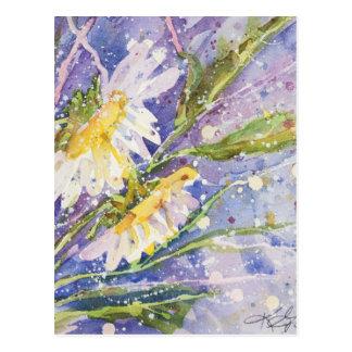Carte Postale Peintures d'aquarelle