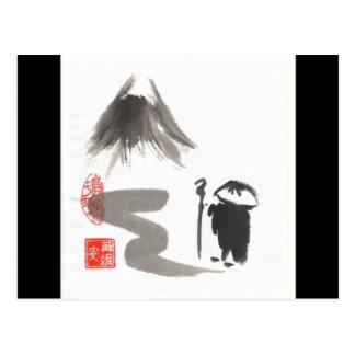 Carte Postale Pèlerin de zen