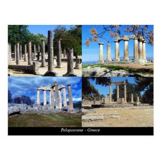 Carte Postale Péloponnèse - la Grèce