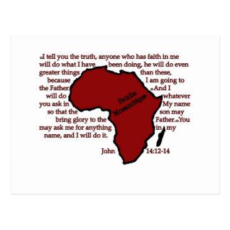 Carte Postale Pemba, écriture sainte de la Mozambique