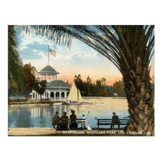 Carte Postale Péniche, cru 1914 de Los Angeles de parc de