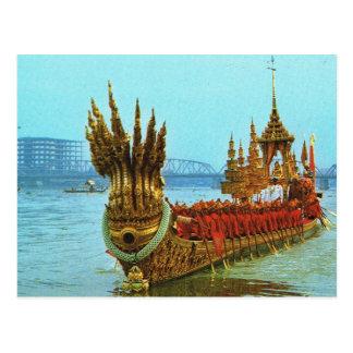 Carte Postale Péniche royale de la Thaïlande, Bangkok sur la