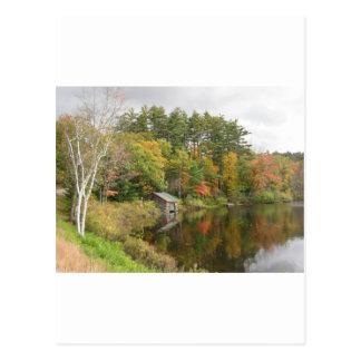 Carte Postale Péniche sur le lac