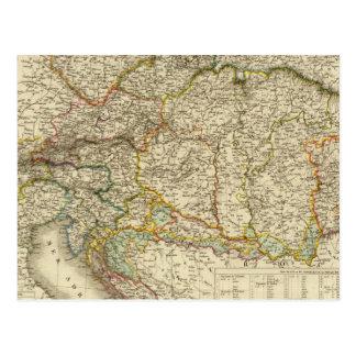 Carte Postale Péninsule balkanique centrale Autriche Hongrie