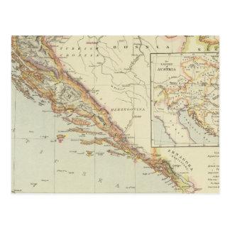 Carte Postale Péninsule balkanique, Croatie, Slovénie