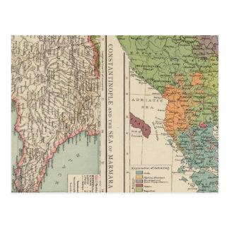 Carte Postale Péninsule balkanique d'Ethnog, Constantinople