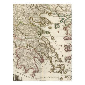 Carte Postale Péninsule balkanique, Grèce, Macédoine