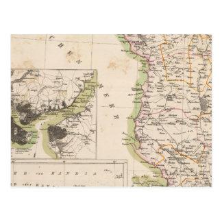 Carte Postale Péninsule balkanique, Turquie, Albanie