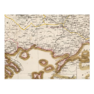 Carte Postale Péninsule balkanique, Turquie, Bulgarie