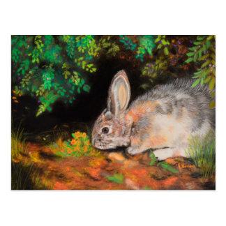 Carte Postale Penser à vous cardent avec le lapin/lapin