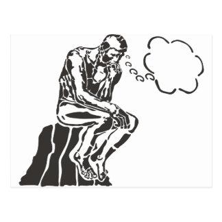 Carte Postale Penseur drôle de Rodin