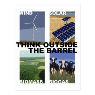 Carte Postale Pensez en dehors du baril