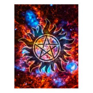 Carte Postale Pentagone étoilé cosmique