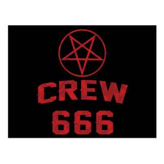Carte Postale Pentagone étoilé de l'équipage 666