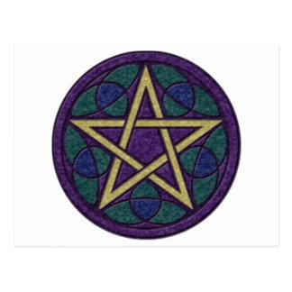 Carte Postale Pentagramme pourpre Triquetra
